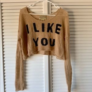 Wildfox Couture Crop Sweater